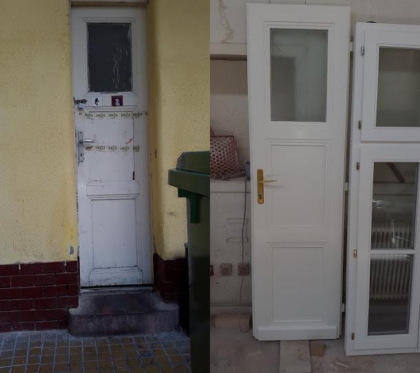 Fa ajtó, ablak gyártás, csere - Felújítás, ilyen volt, ilyen lett