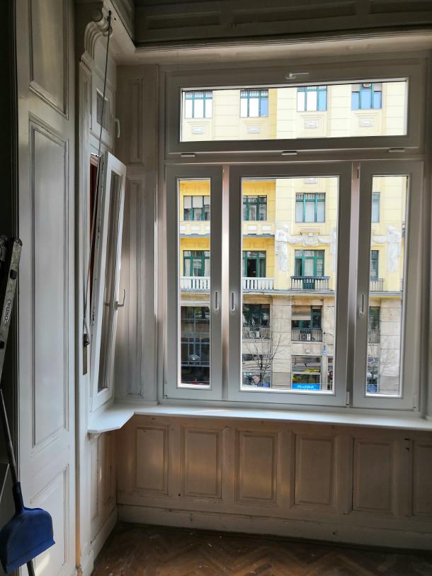 Fa ajtó, ablak gyártás, csere - Polgári lakás fa ablak belülről