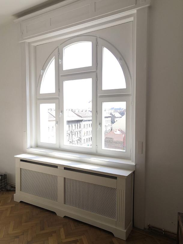 Fa ajtó, ablak gyártás, csere - Íves ablak