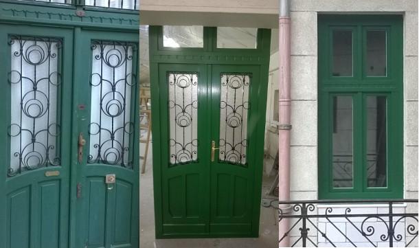Fa ajtó, ablak gyártás, csere - Fa ablak és fa bejárati ajtó az eredeti tökéletes mása