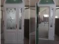 Fa ajtó, ablak gyártás, csere - Két színű fa bejárati ajtó - Belső oldal