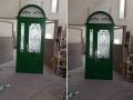 Fa ajtó, ablak gyártás, csere - Két színű fa bejárati ajtó - Külső oldal