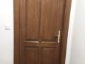 Fa ajtó, ablak gyártás, csere - Fa beltéri ajtó barna beépítve