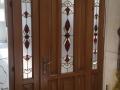 Fa ajtó, ablak gyártás, csere - Tiffany üveges fa beltéri ajtó