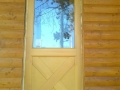 Épületasztalos - Faház, fa kültéri ajtó