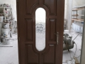 Fa ajtó, ablak gyártás, csere - Fa bejárati ajtó macskaajtóval