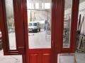 Fa ajtó, ablak gyártás, csere - Polgári lakás fa ajtó oldal ablakokkal kívülről