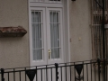 Fa ajtó, ablak gyártás, csere - Polgári lakás fa bejárati ajtó fehér beépítve