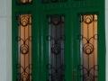 Fa ajtó, ablak gyártás, csere - Fa bejárati ajtó zöld beépítve