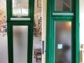 Fa ajtó, ablak gyártás, csere - Két színű fa ablak a műhelyben és beépítve
