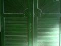 Épületasztalos - Fa kültéri kétszárnyú ajtó
