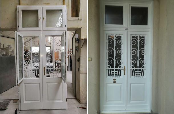 Új fa bejárati ajtó polgári lakásba